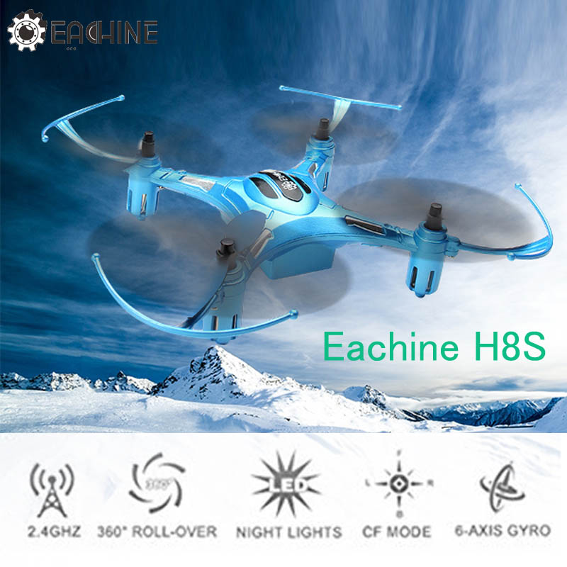 Eachine H8S 3D Mini Inverted Flight 2.4G 4CH 6Axis One Key Return RC Drone Quadcopter RTF Mini Models Outdoor Toys Gift