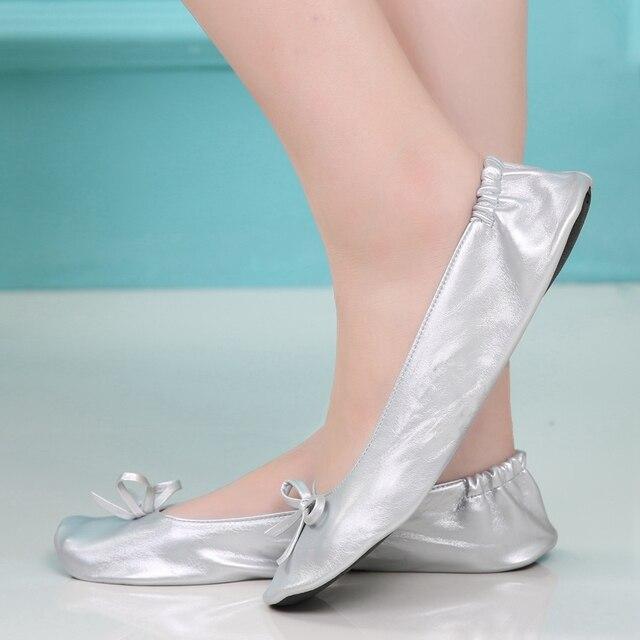 Frauen Schuhe Ballerinas Tragbare Klappen Schuh Ballerina Schuhe