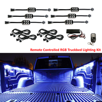 Colored LED Car Interior Underbody Neon Lights For Pickup Truck Bed Under Car Kit Remote Control
