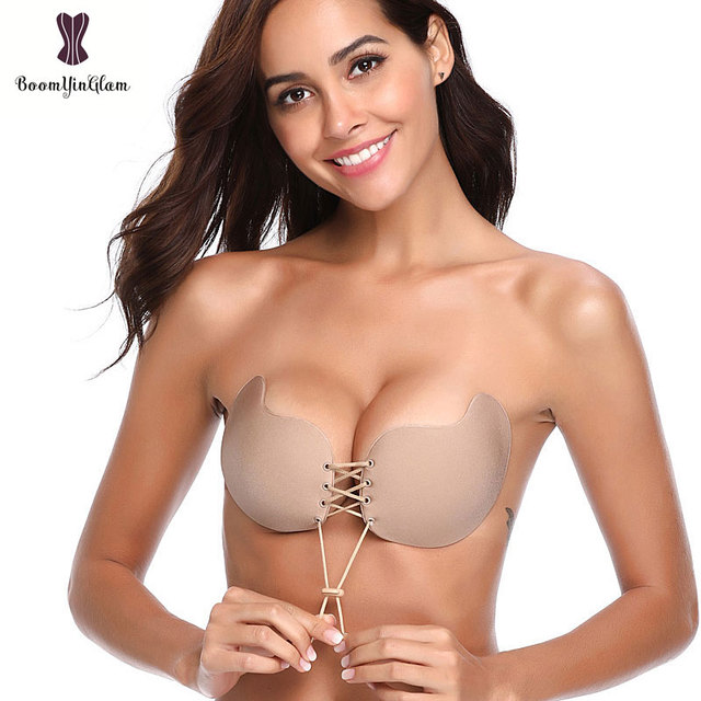 9e46a12d67d Mango shaped Sexy Push Up Bra Silicone Bralette Invisible Strapless Stick  On Adhesive Bras Intimates Backless Seamless 9003