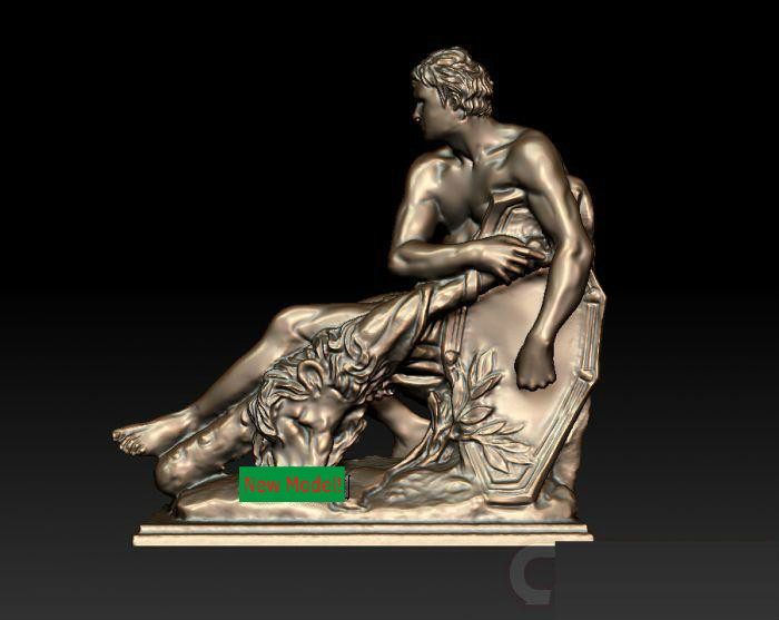 3D model for cnc 3D  CNC machine in STL file format Herakles martyrs faith hope and love and their mother sophia 3d model relief figure stl format religion for cnc in stl file format