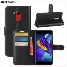 HOTSWEI Case For Huawei Honor 6C Pro Cover Top quality PU Leather + Silicone Wallet Flip Case for Honor 6C Pro Phone Bag Fundas(China)