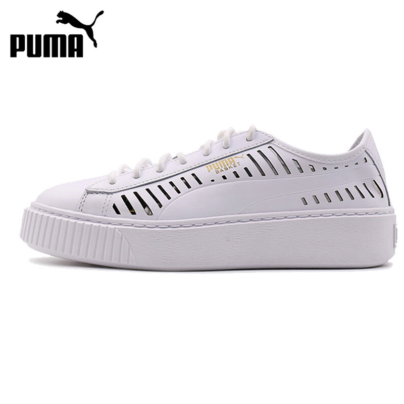 Original New Arrival 2018 PUMA Basket Platform Summer Wn Women's Skateboarding Shoes Sneakers