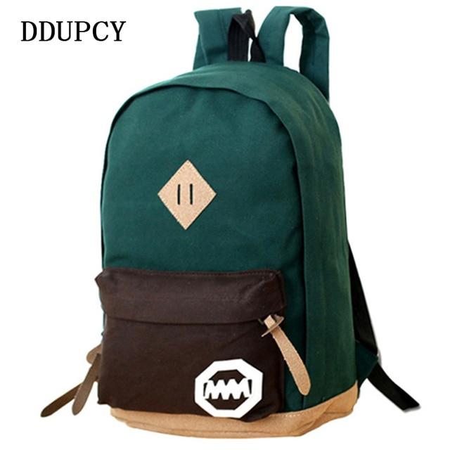 840d1640d63ff 2018 Kadın Sırt Çantası Rahat Seyahat Çantası Moda okul çantası [6 renk]  Tuval omuz