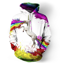 Drop shipping 3d printed Female Rainbow Unicorn Hoodie Sweatshirts Women Paint Hoodies Pullovers Swish Hoody Unisex Tracksuits