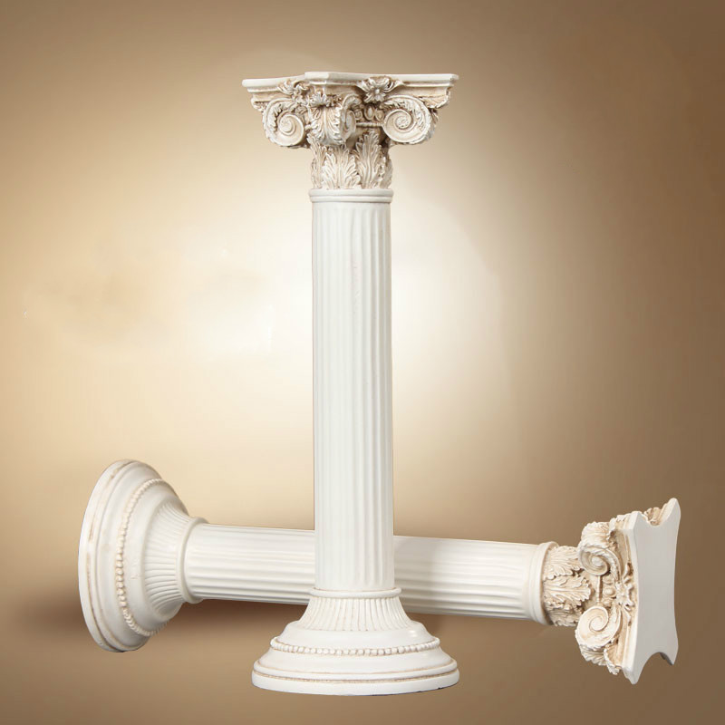 Roman Columns European-style Ornaments Retro Room Decoration 2 Pieces / 1 Lot Resin Handicrafts Business Birthday Wedding Gifts