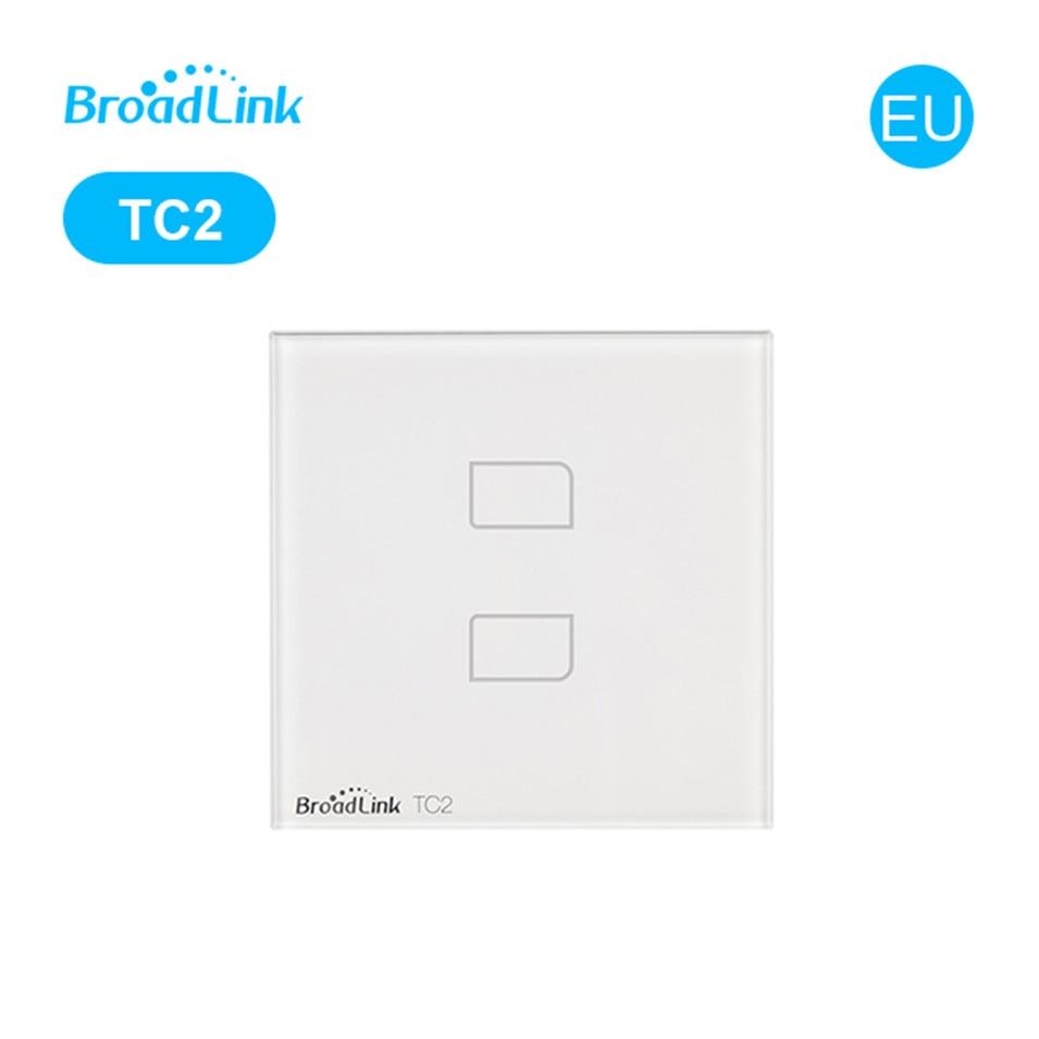 Broadlink TC2 האיחוד האירופי סטנדרטי 1 2 3 הכנופיה אור אלחוטי מתג, מגע זכוכית מתג לוח, RM PRO Wifi שלט רחוק, הבית אוטומציה