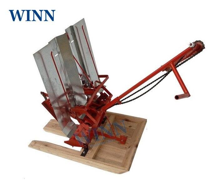 Manual Rice Transplanter 2 Rows Transplant Rice Seedlings Machine Plant Setting Mahcine Seedling Planting Machine