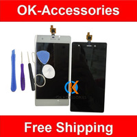Black White Color For Wiko Pulp 4G LCD Display Touch Screen Digitizer Assembly 1PC Lot