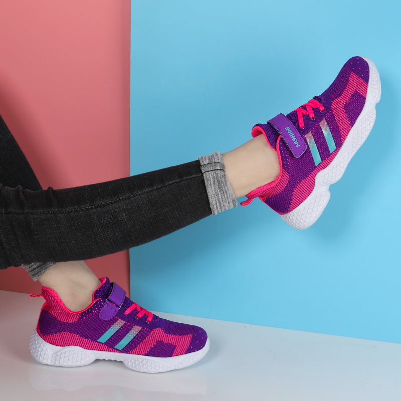 Купить с кэшбэком Girl High Quality Thick Sole Kids Sneakers Girls Running Shoes Speed Runner Children Sport Shoes Outdoor Child Walking Shoes Red