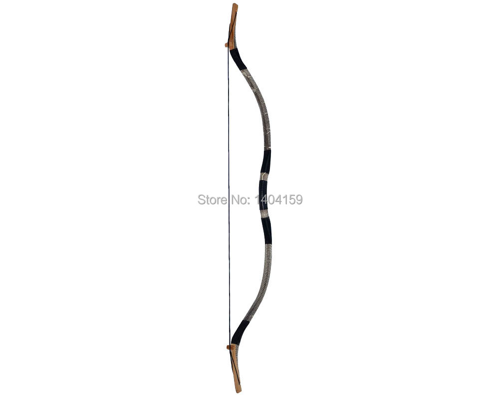 1 piece Archery Recurve bow Traditional Handmade  Recurve bow for shooting 55lbs hunting recurve bow 1 piece hotsale black snakeskin wooden recurve bow 45lbs archery hunting bow