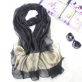 Hot Sale Mujer Bufanda Silk Chiffon Shawls Scarves Women's Elegant Voile Pashmina Hijab Long Large 196*70 cm Stole Echarpes