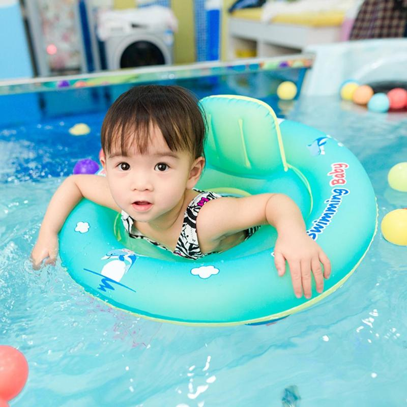 Baby Swimming Ring Floating Kids Inflatable Floats Seat Pool Bathtub Swimming Pool Accessories Infant Swimming Ring Circle Toy