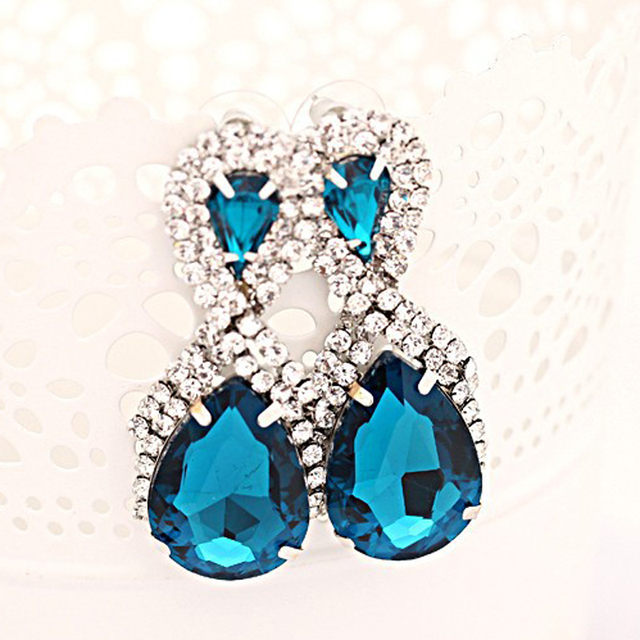 Snowflake Crystal Drop Earrings For Women