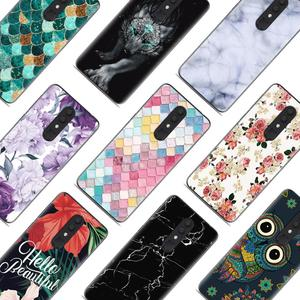 Image 3 - Shockproof Back Telefoon Cover Voor Alcatel 3 (2019) /5053 Cool Modieuze Ontwerp Soft Case Kleurrijke Painted TPU Silicone Cover