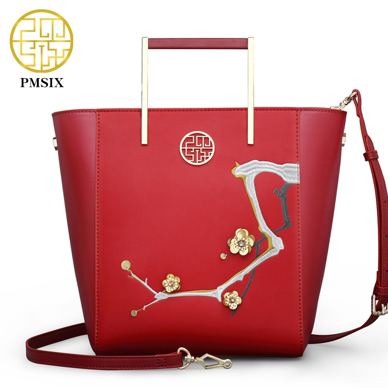 Pmsix fashion designer cattle split leather bags women handbag brand high quality embossing ladies shoulder bags women bag new split leather snake skin pattern women trunker handbag high chic lady fashion modern shoulder bags madam seeks boutiquem2057