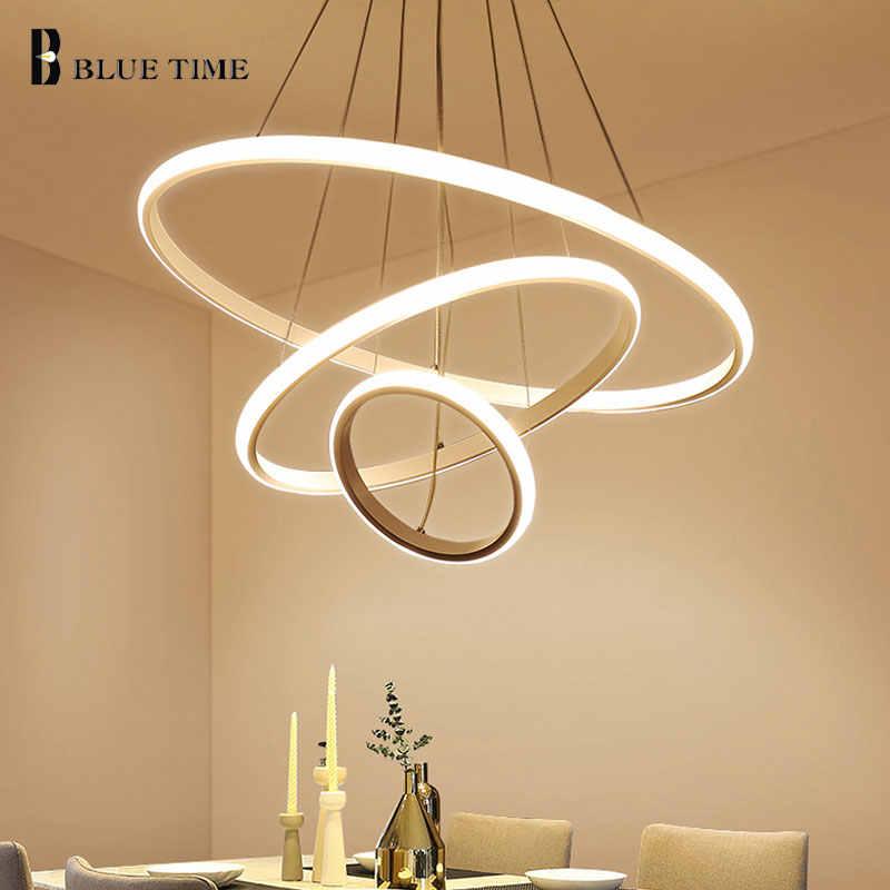 Современный светодиодный подвесной светильник для спальни, гостиной, столовой, кухни, минималистичный белый, черный, кофейный и Золотой светодиодный подвесной светильник переменного тока