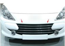 цена на car-covers case For Peugeot 307 High quality ABS Chrome Front Grille Around Trim Racing Grills Trim Car styling