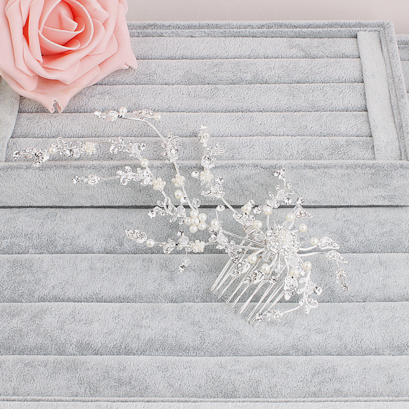 Women Lady Girls gifts Hair Combs Bridal Crystal Flower Hairpin Brides Hair Headwear Accesories Jewelry Women Jewelry HX042