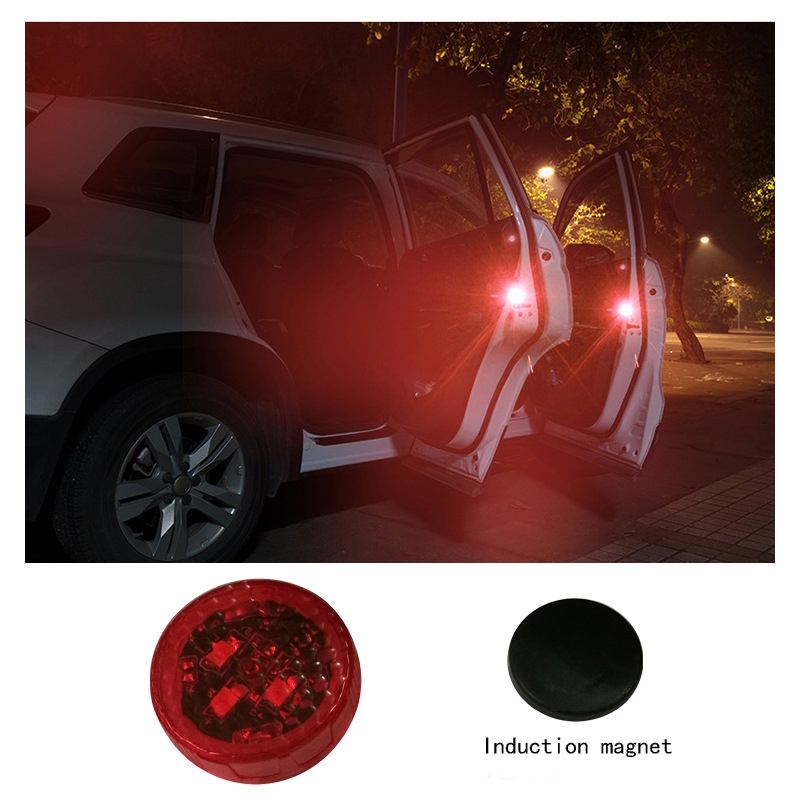 LED door warning light car LED wireless door light traffic safety magnetic light indicator