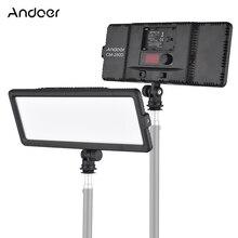 Andoer LED Video ışık paneli 3200K 5600K bi renk kısılabilir parlaklık ile soğuk ayakkabı dağı için canon Nikon Sony DSLR kamera