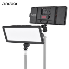 Andoer Đèn LED Video Bảng Điều Khiển 3200K 5600K Bi Màu Mờ Độ Sáng Với Giày Lạnh Ốp Cho máy Ảnh Canon Nikon Sony DSLR Camera