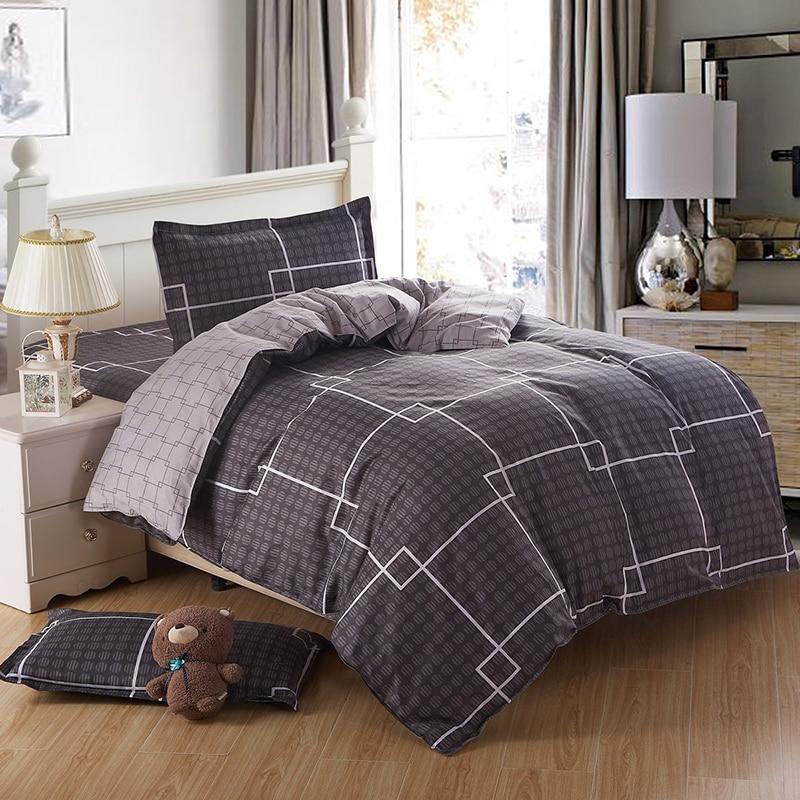 100% Cotton Black Block Dorm Bedding Sets Bed Set Linen Cotton Single  Size/bedclothes