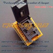 QFN8 к DIP8 Программист Адаптер WSON8 DFN8 MLF8 в DIP8 разъем для 25xxx 6×8 мм Шаг = 1.27 мм