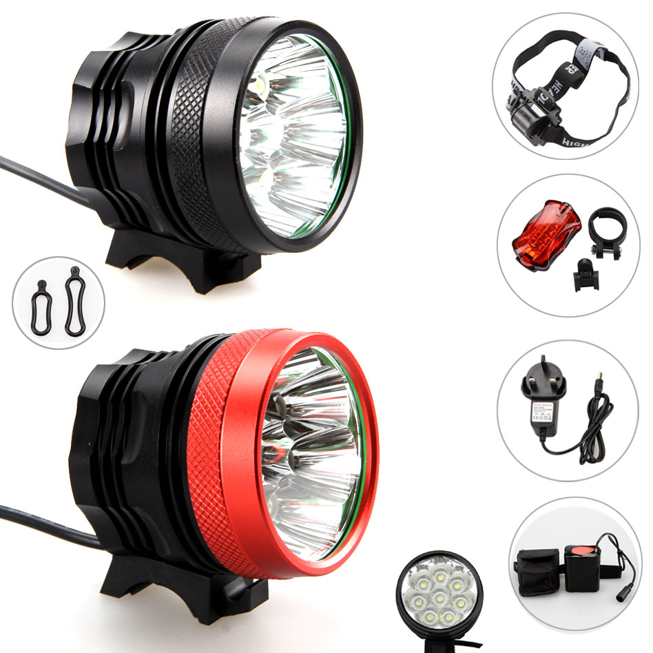 Insten 5 LED Lamp Bike Bicycle Front Head Light Plus Rear Safety Flashlight XM