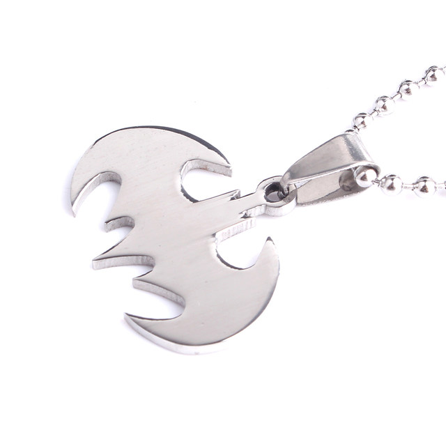 Online shop free shipping silver batman 316l stainless steel pendant img1475 mozeypictures Gallery