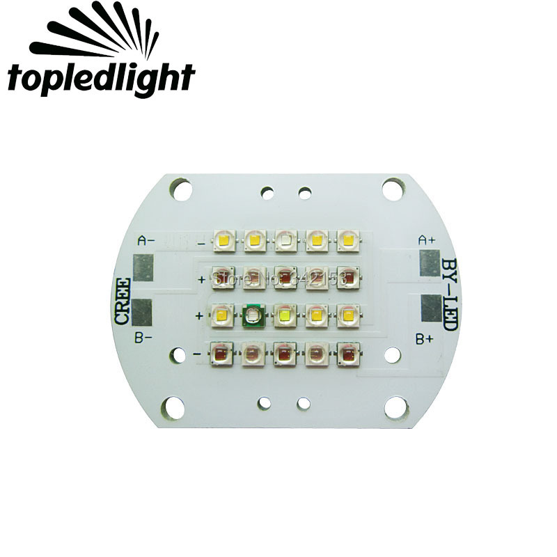 Topledlight Customize 2 Channel 60W Plant Grow Led Emitter Lamp Light 3000K 6500K 450NM 470NM 620NM - 630NM 660NM Mix Color Led