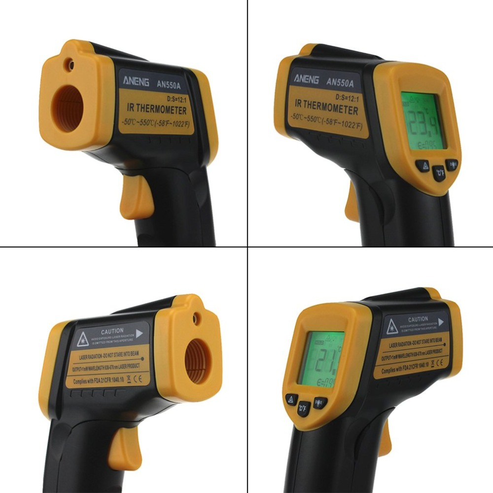 New Professional AN320A Infrared Thermometer LCD Digital Display Laser Temperature Meter Non-Contact Thermometer