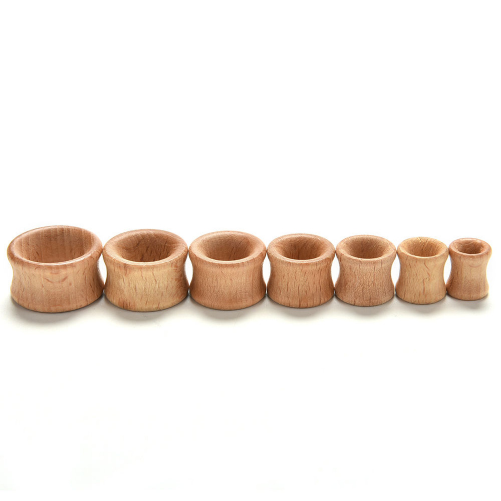 US $1 05 17% OFF|2016 1 Pair Natural Body Jewelry Wooden Plugs Gauges Flesh  Ear Tunnels Hollow Plug Piercing Ear Expander-in Body Jewelry from Jewelry