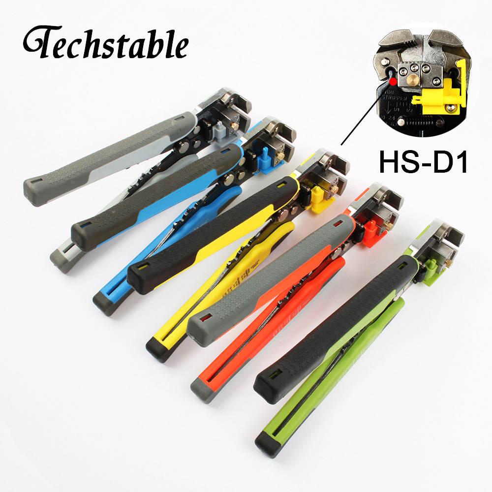 Techstable HS-D1 AWG24-10 0.2-6.0mm2 3 in 1 Multifunctional automatic Stripping pliers Cable wire Crimping Cutting
