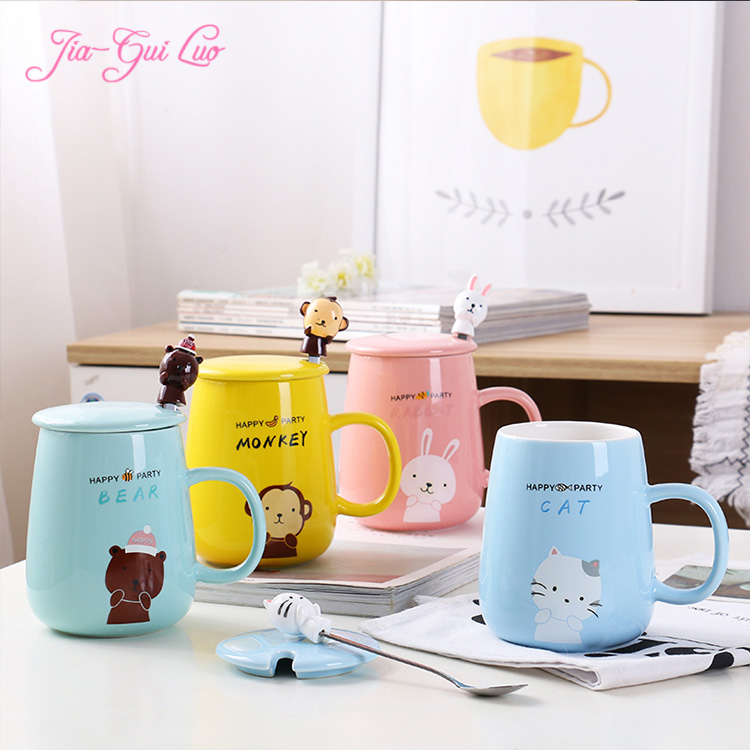 Jia-gui luo MUG Cartoon ceramic cup color variety price beautiful welcome to buy a gift for childrens girlfriend