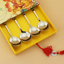 Family member quality  tableware gift spoons set 4 pieces chinese porcelain dinnerware bone china ceramic wholesale price