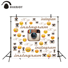 Allenjoy camera photography Party background instagram Social Network theme emoji camera Photophone Background for photo studio