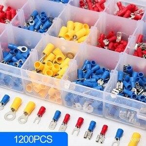 Image 3 - Ensemble de bornes à sertir, Kit de bornes mâle/femelle, 1200 pièces avec boîte, connecteurs de câblage électrique isolés