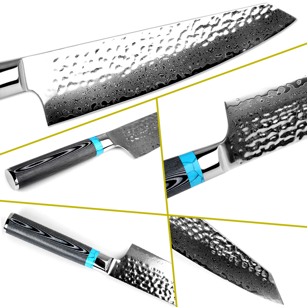 "XITUO Damascus mes 8 ""inch VG10 mes Damascus staal mes 67 layer Fileren Zalm Utility chef Santoku Cleaver vlees mes-in Keukenmessen van Huis & Tuin op  Groep 2"