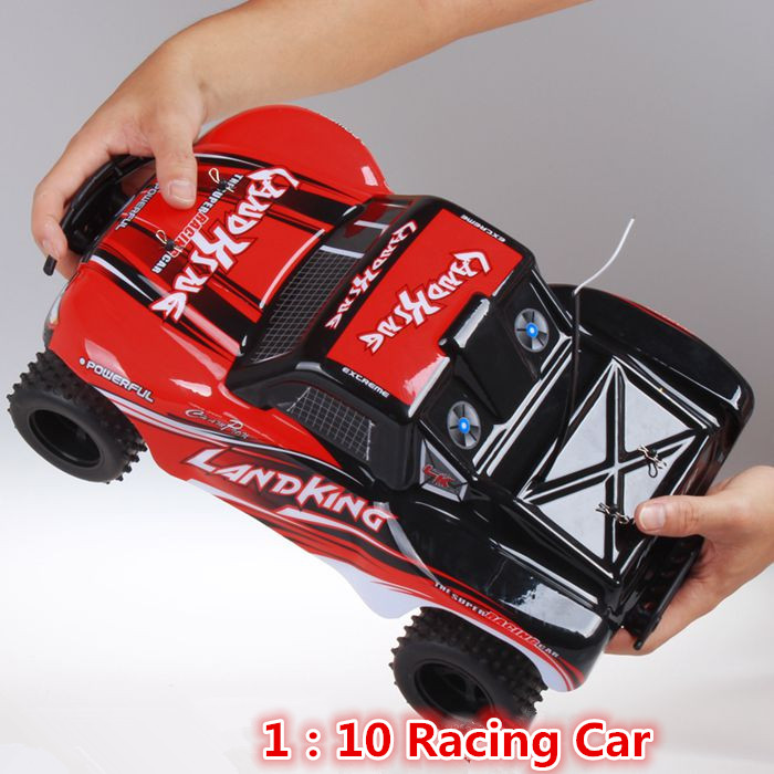 New Large RC Racing Cars 1:10 39cm Brushed Motor 30KM/H High speed Remote Control RC Wild Track RC Electric Car Vehicle Toy 2017 new arrival a333 1 12 2wd 35km h high speed off road rc car with 390 brushed motor dirt bike toys 10 mins play time