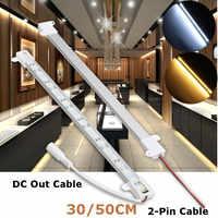 Smuxi, barra rígida de 30/50CM, barra de luz en forma de U, tira de luz de doble fila, 5630 SMD, tira de luz LED de aluminio, tira rígida de luces LED DC 12V