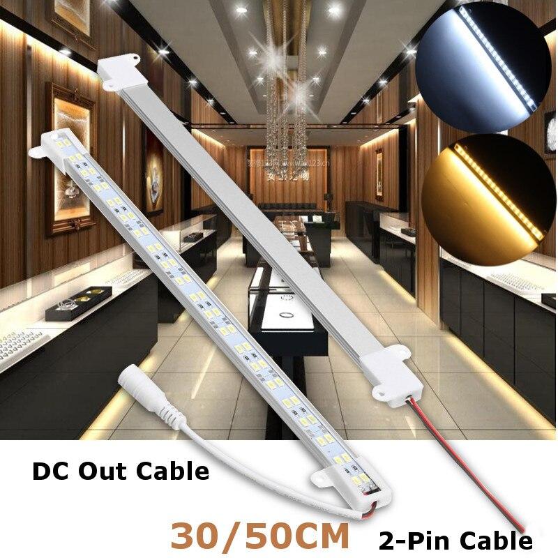 Smuxi 30/50CM Hard Bar U Shape Bar Light Dual Row Strip Light 5630 SMD LED Aluminum Strip Light LED Rigid Strip Light DC 12V