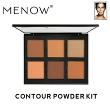 MENOW Brand 6 color Concealer Face Modified Contour Powder Plate Highlight shadow Cosmetic care Make up ES02