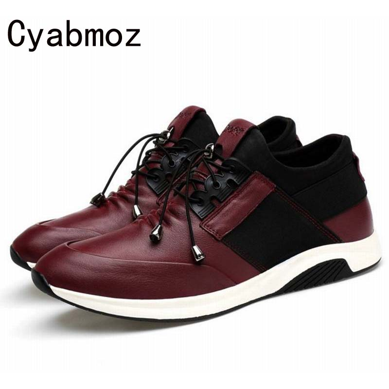 2018 Breathable Men Casual Shoes Genuine Leather Lace Up Mens Trainers Flat Walking Shoes Comfortable Zapatillas Hombre Oxfords bimuduiyu new england style men s carrefour flat casual shoes minimalist breathable soft leisure men lazy drivng walking loafer