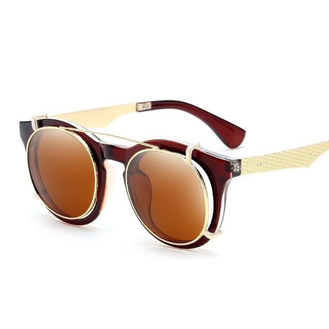 c17bc5750 SOLO TU Moda Plugue Duplo Lente Dupla Óculos de Sol Marca Designer Homens  Das Senhoras Das