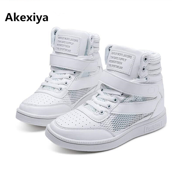 2017 summer explosion white inside the increased sports shoes high top runnning shoes basketball shoes for woman zapatos mujer image