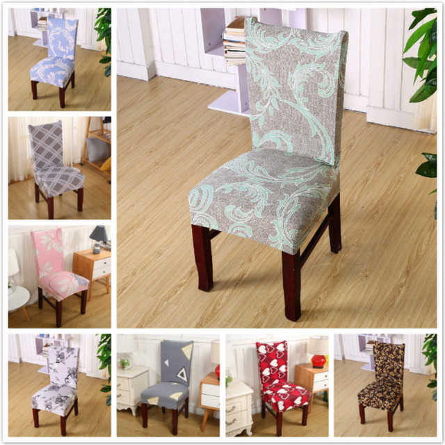 Printed Floral Chair Cover Home Living Room Wedding Party Restaurant Dining Stretch Seat Slipcovers