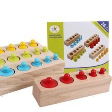 Цилиндр Монтессори для детей Детские Обучающие деревянные игрушки цилиндр разъем подарки ребенка 2 года из России