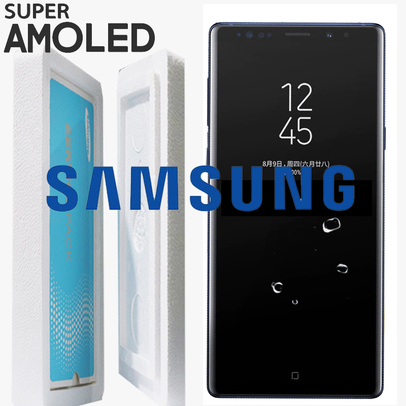 Black Blue Gold Pink Silver ORIGINAL 6 4 LCD with frame for SAMSUNG GALAXY Note 9
