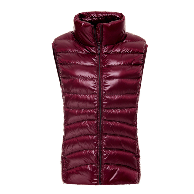 Duck Down Women Vest Ultra Light thin Vest Winter 2016 Sleeveless Waistcoat Fashion Autumn red black white blue vest casual